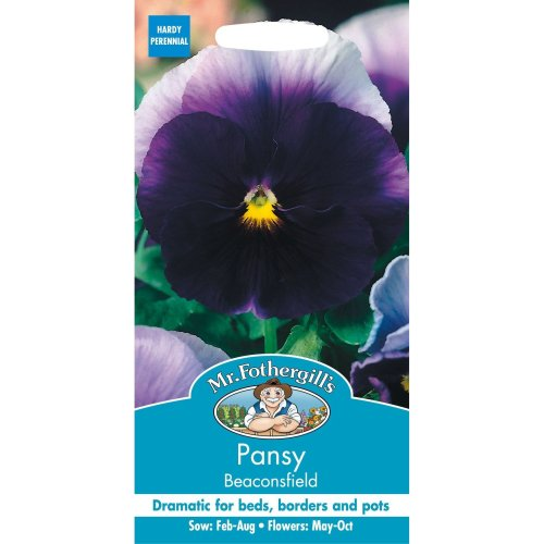 Mr Fothergills - Pictorial Packet - Flower - Pansy Beaconsfield - 100 Seeds