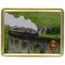 Stewarts The Jacobite on Glen Finnan Viaduct Shortbread Biscuit Tin 400g