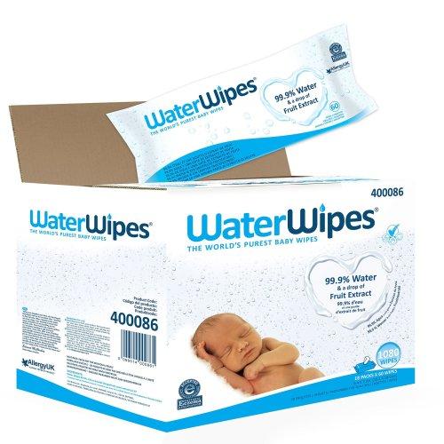WaterWipes Baby Wipes Sensitive Skin, 18 packs x 60 wipes (1080 wipes)