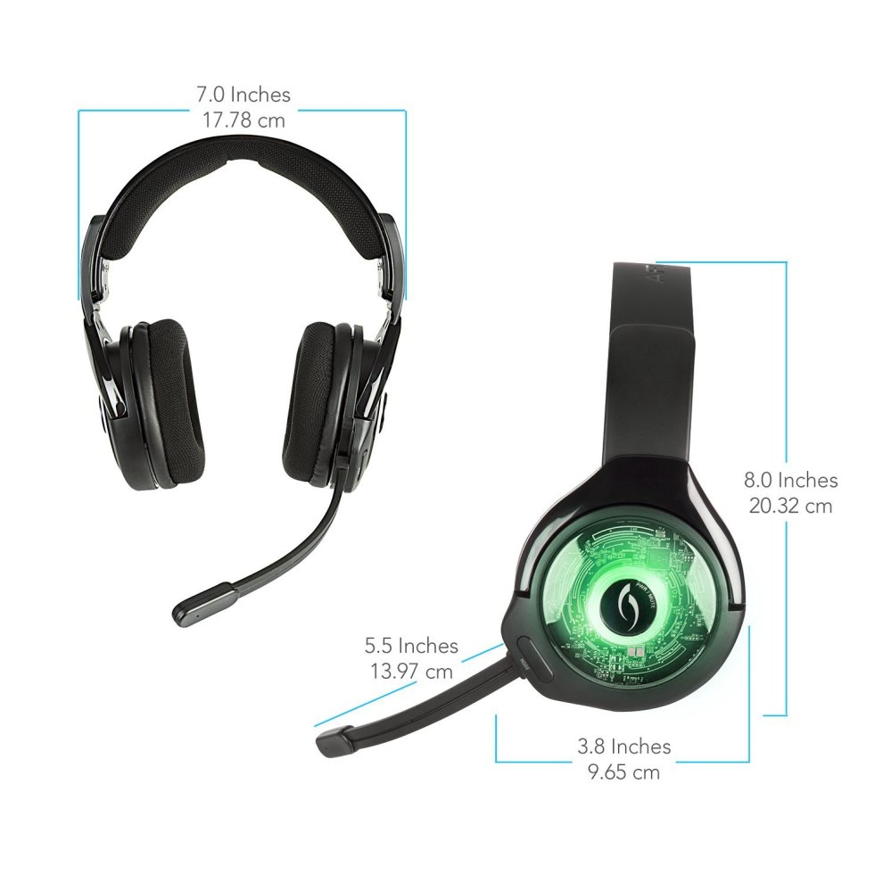 PDP Xbox One Afterglow AG 9+ Prismatic True Wireless Gaming Headset 048 056 NA, Black