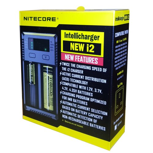 Nitecore I2 2018 Intelligent 18650 26650 AA AAA Battery Charger
