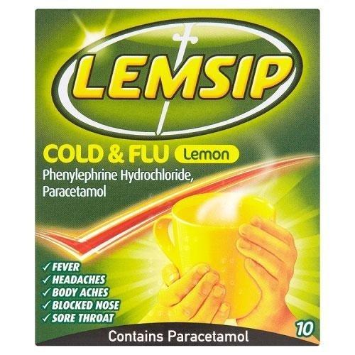 Lemsip Cold & Flu Original Lemon 10 Sachets