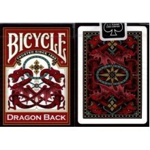 Bicycle Dragon Back Playing Cards RED