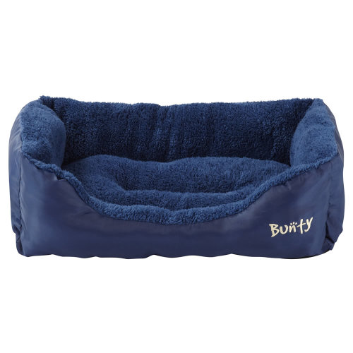 (Blue, Large) Bunty Deluxe Dog Bed | Soft Fleece Pet Bed