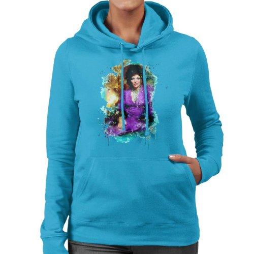 TV Times Joan Collins 1971 Paint Splatter Women's Hooded Sweatshirt