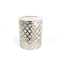 43X49Cm Decorative Round Aluminum Coffee Side Table Stool Home Garden Office