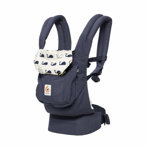 Ergobaby Baby Carrier Front and Back Original Marine 5.5 to 20kg, Ergonomic Breathable Child Carrier Backpack, BCANMARINE