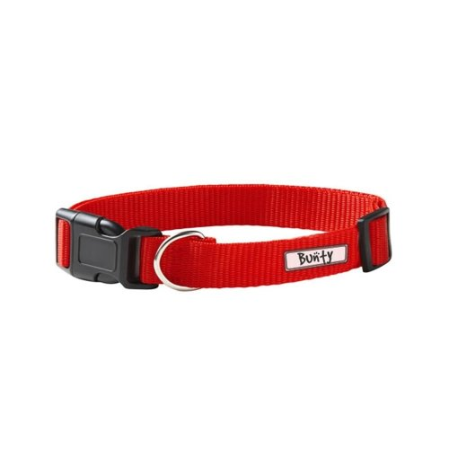 (Small, Red) Bunty Quick Release Adjustable Fabric Pet Collar