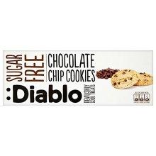 Diablo Sugar Free Chocolate Chip Cookies 130 g (Pack of 4)