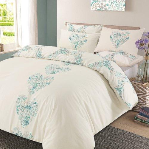 Dreamscene Duvet Cover With Pillow Case, Super King Bedding Set Blue