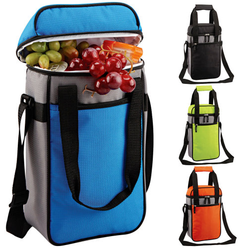 GEEZY Insulated Bottle Drinks Cool Bag Lunch Box Zip Up Ice Wine Cooler Carrier