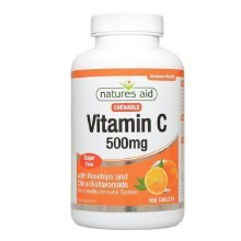Natures Aid Vitamin C 500mg Sugar Free Chewable 100 Tablets