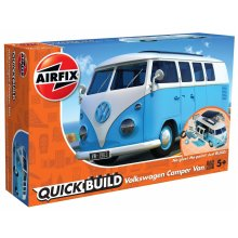 Airfix J6024 Quick Build VW Camper Van Model Vehicle Toy, Blue