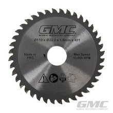Gmc 40t Tungsten Carbide-tipped Saw Blade - x Gts1500 Carbidetipped 110 222 -  x saw gts1500 gmc tungsten carbidetipped 110 222 40t 586371 tct