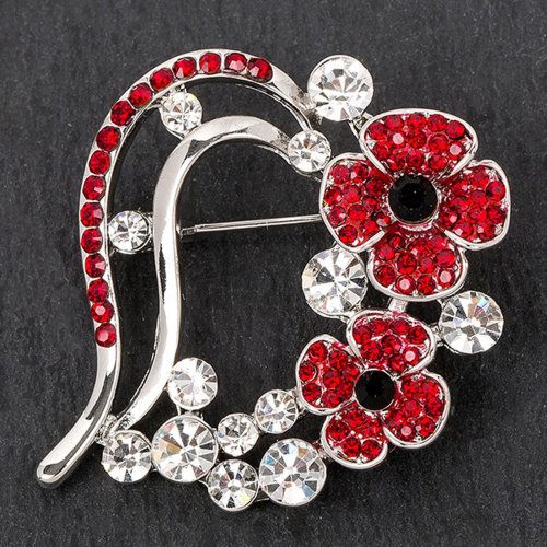 Equilibrium Silver Plated Costume Jewellery & Accessories - Poppy Brooch 69148