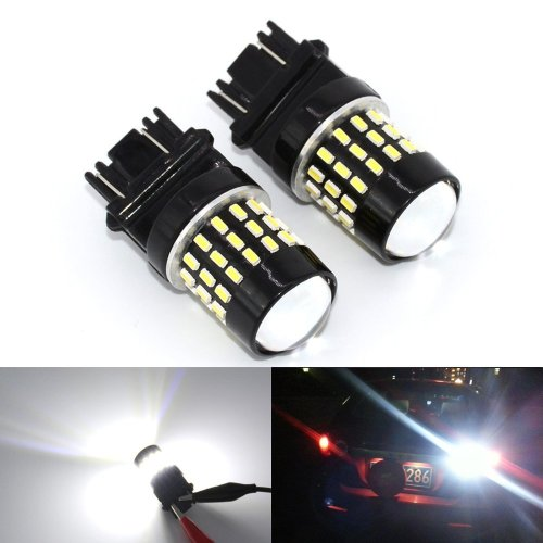 KATUR 2pcs Super Bright 1157 BAY15D 1016 1034 1196 7528 94 3014 54SMD Lens LED Replacement Bulbs Turn Brake Signal Tail Back Up Stop Parking RV Lights 3.1W DC 12V-24V Red