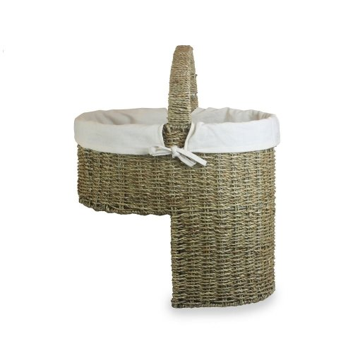 Seagrass White Cotton Lined Stair Basket