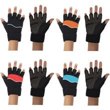 Weight Lifting Gym Padded Leather Fitness Gloves