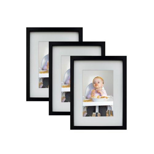 15 x 21 cm Picture Photo Frames, 3 pack, BLACK
