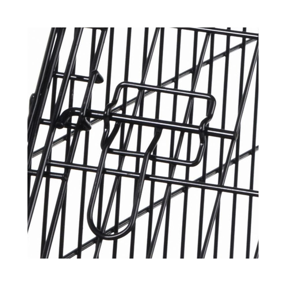 Dog Transport Cage Crate Metal Removable Plastic Base ...