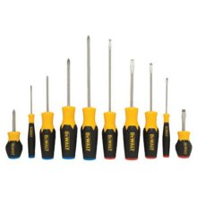 DEWALT DWHT62513 10PC Screwdriver Set, Yellow, Pack of 1