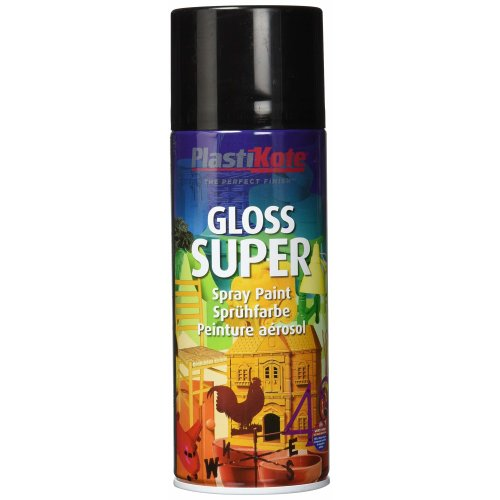 Plasti-Kote 1100 400ml Super Gloss Spray Paint - Black