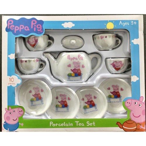 Peppa Pig 13 Piece Ceramic Porcelain Kids Tea Party Play Set Gift Uk Pot Cup Set