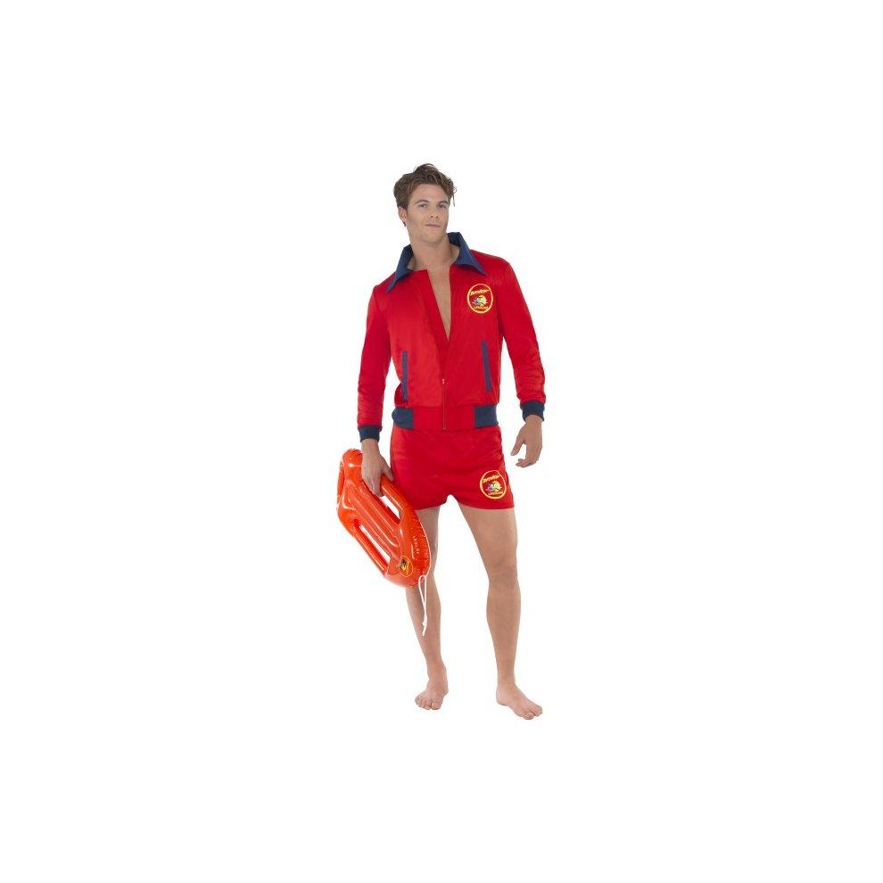 Baywatch Lifeguard Beach TV Adult Mens Smiffys Fancy Dress Costume Medium