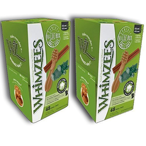 Whimzees Dog Treat, Variety Box, Small, 48 pack X 2 (96 Treats) Great Value - Save!