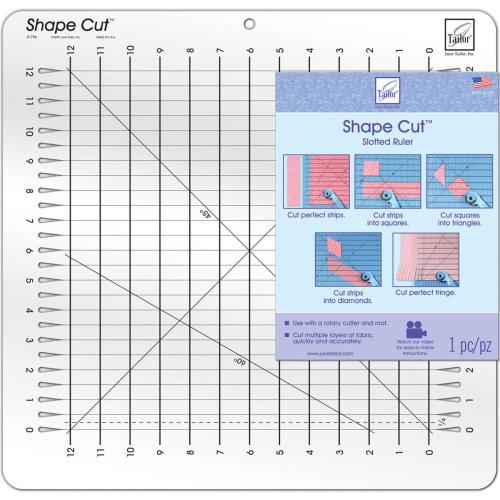 "June Tailor Shape Cut Ruler-16""X16-1/2"""
