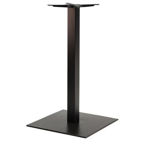 Gorzan Extra Large Square Cast Iron Bar Commercial Table Base - Black