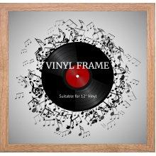 """12"""" Vinyl Oxford Oak Frame - Glass Window"""