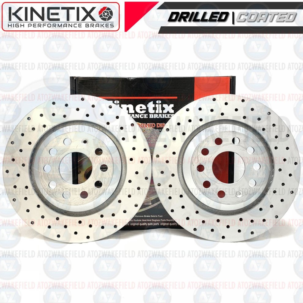 AUDI S3 QUATTRO 8V BRAKE DISC CROSS DRILLED GROOVED WITH BRAKE PAD FRONT