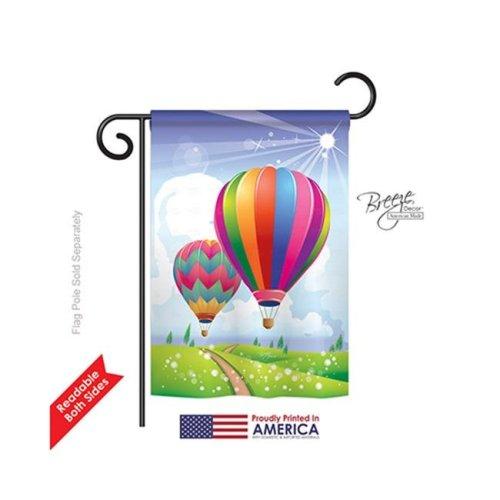 Breeze Decor 56058 Summer Balloon Festival 2-Sided Impression Garden Flag - 13 x 18.5 in.