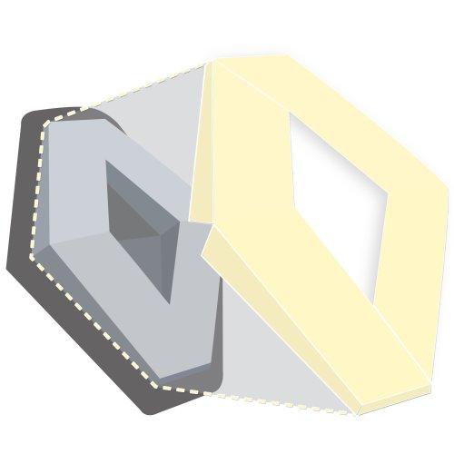 Renault Clio Mk2 Front Rear Vinyl Badge Wraps Silver Emblem Badges Covers