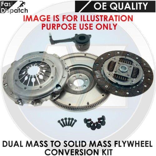FOR VW SHARAN 1.9 TDI SOLID MASS FLYWHEEL CLUTCH CONVERSION KIT ASZ 130BHP 02-06