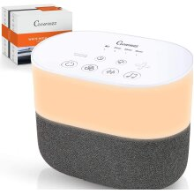 Crownzz White Noise Sleep Machine, Warm Night Light, 26 Natural Sounds for Soothing, Therapy, Relaxation & Tinnitus Relief with Timer
