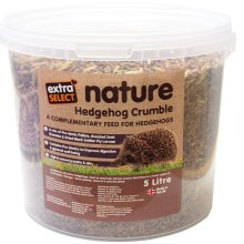 Extra Select Hedgehog Crumble Bucket, 5 Litre