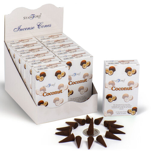 Stamford Incense Cones - Coconut pkt of 15 cones