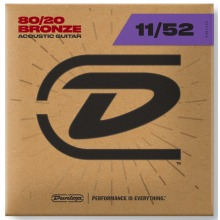 Dunlop Acoustic Guitar Strings 80/20 Bronze 11-52