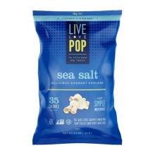 Live Love Pop 284536 Sea Salt Popcorn, 4.4 oz - Pack of 12