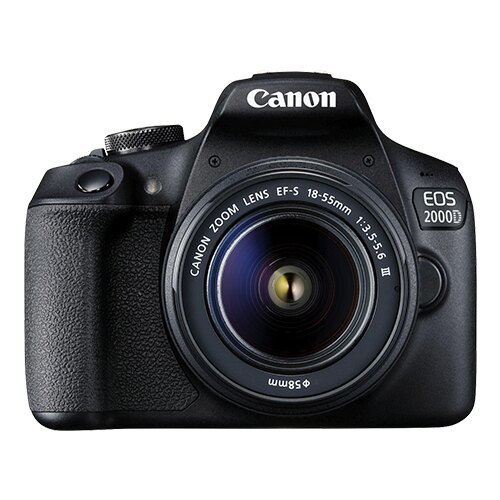 CANON EOS 2000D DSLR Camera With EF-S 18-55mm F3.5-5.6 III Lens Kit