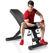 Dripex sports Adjustable Olympic Weight Bench - Home Gym Strength Training/7-Level, 330 lbs Capacity, Fordable Incline&Decline Bench