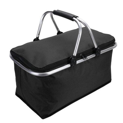 (Black) 30L Large Insulated Folding Picnic Bag