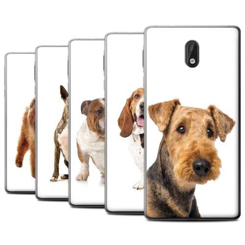 Dog Breeds Nokia 3 Phone Case Transparent Clear Ultra Soft Flexi Silicone Gel/TPU Bumper Cover for Nokia 3