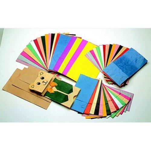 Flat Bottom Paper Bag, 4.5 x 2.5 x 8.5 In, Brown, Pack 100