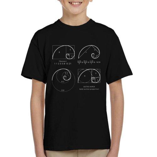 Maths And Science Fibonacci Spiral Kid's T-Shirt