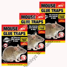 9 X NTI EXTRA STRENGTH Mouse & Rat Sticky Glue Traps Boards