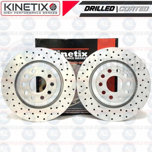FOR VW GOLF R MK7 AUDI S3 RS3 RSQ3 REAR PERFORMANCE DRILLED BRAKE DISCS 310mm