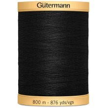 Gutermann 100% Natural Cotton Thread - Black